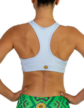 sports bra running light blue