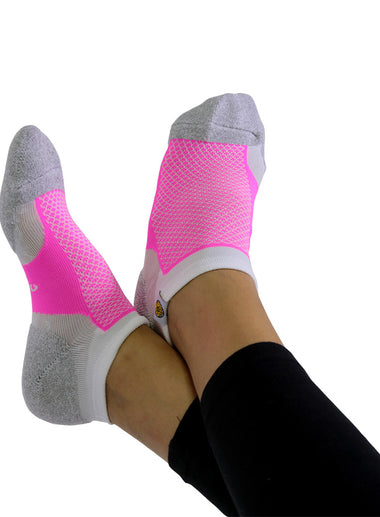 Womens Socks Grey and Pink