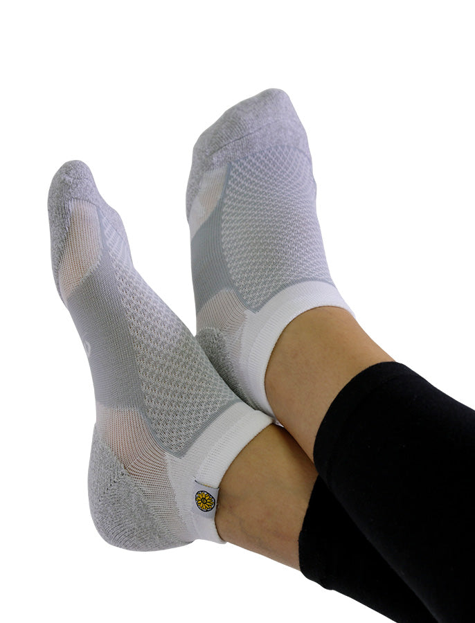 Womens Socks Grey and White
