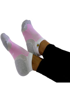 Womens Socks Pink and White and Grey