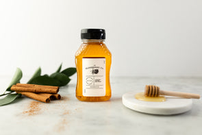 NEW! Cinnamon Infused Raw Honey - 8 Ounces