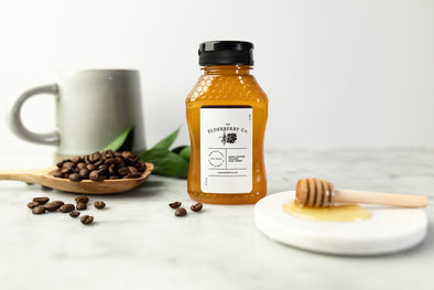 NEW! Coffee Infused Raw Honey - 8 Ounces
