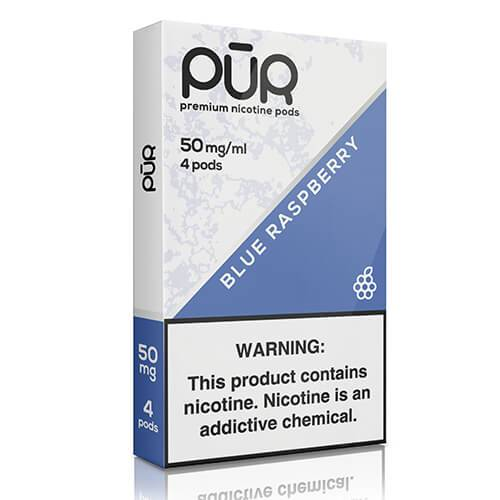 PuR - Compatible Nicotine Pods - Blue Raspberry (4 Pack)