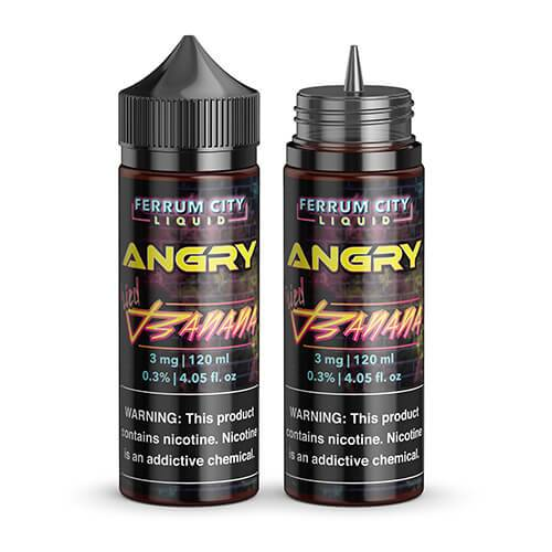 Angry E Line by Ferrum City Liquid - Angry Fried Banana