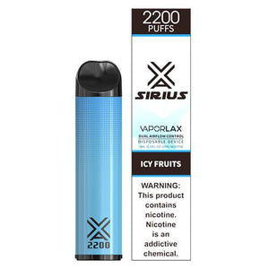Sirius by VaporLAX - Disposable Vape Device - Icy Fruits