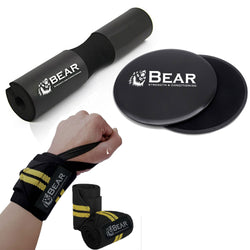 bear-sc bear strength and condioning bear core sliders slider and resistance bands glides carpet hard floor elite urban fit wrist wraps lifting crossfit powerlifting walmart boxing amazon for benching deadlift weightlifting women carpal tunnel rogue pink schiek starps starp support braces weight strength training squat barbell pad neck olympic sponge hip thrust men squats shoulder protective fitness foam thick supports bar lunges advanced