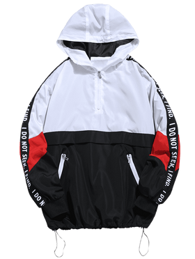 PATHFINDER PULLOVER JACKET - BLACK/WHITE - CLOUT CULTURE