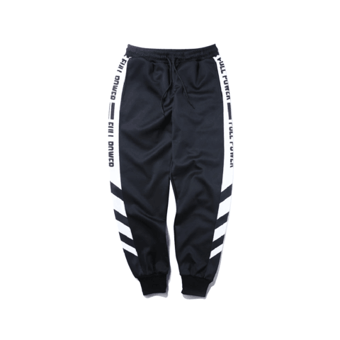 FULL POWER SWEATPANTS - BLACK/WHITE - CLOUT CULTURE