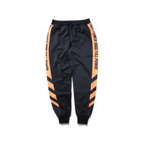 FULL POWER SWEATPANTS - BLACK/ORANGE - CLOUT CULTURE