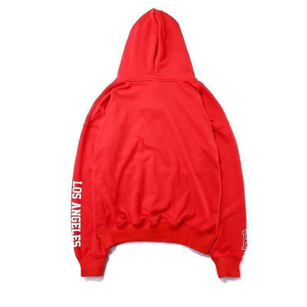 HOLLYWOOD HOODIE - RED/BLACK - CLOUT CULTURE