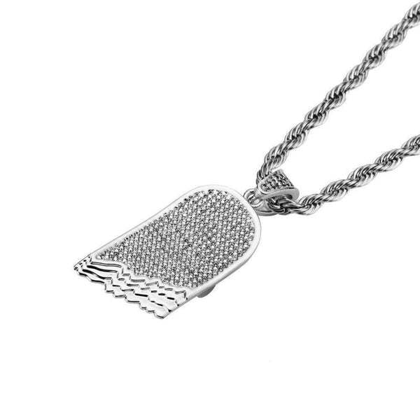 ICED OUT HALF BOARD ROPE CHAIN - SILVER - CLOUT CULTURE