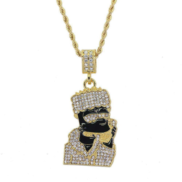 ICED OUT LORD BART CHAIN - GOLD/BLACK - CLOUT CULTURE
