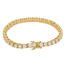 TENNIS BRACELET - GOLD - CLOUT CULTURE
