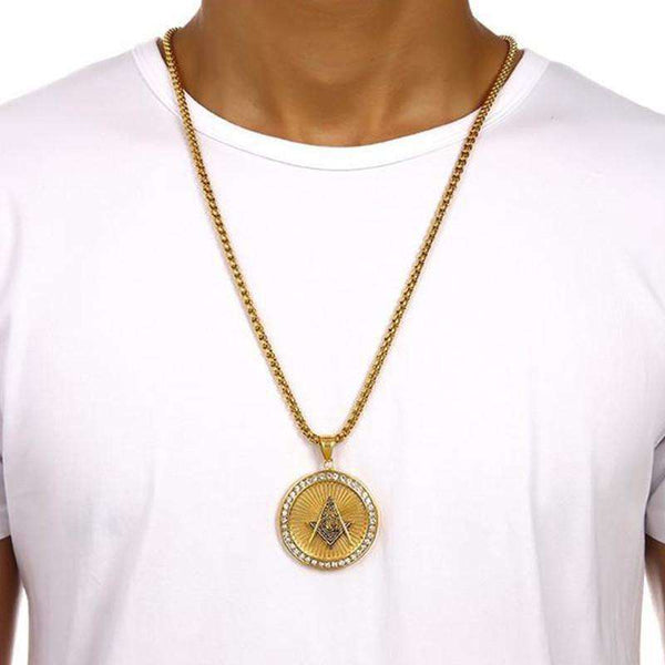 ICED OUT 360 FREEMASONS CHAIN - GOLD - CLOUT CULTURE