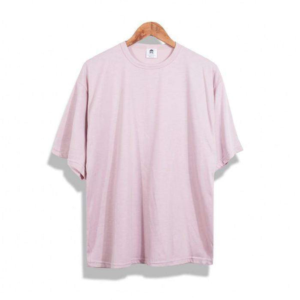 CUSTOM LONG TEE - PINK - CLOUT CULTURE