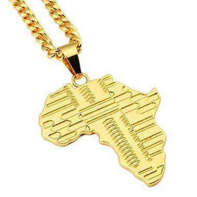 AFRICA CHAIN - GOLD - CLOUT CULTURE