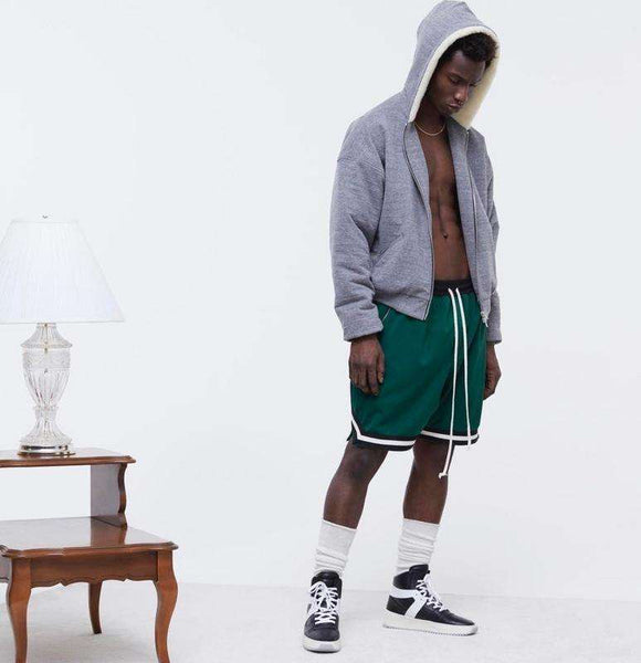 MESH SPORTS SHORTS - GREEN - CLOUT CULTURE