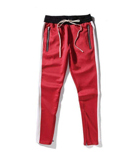 RETRO PANTS - RED/WHITE - CLOUT CULTURE
