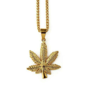 GANJA CHAIN - GOLD - CLOUT CULTURE