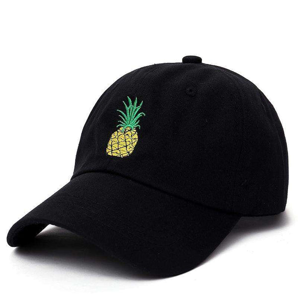PINEAPPLE EXPRESS DAD HAT - BLACK - CLOUT CULTURE