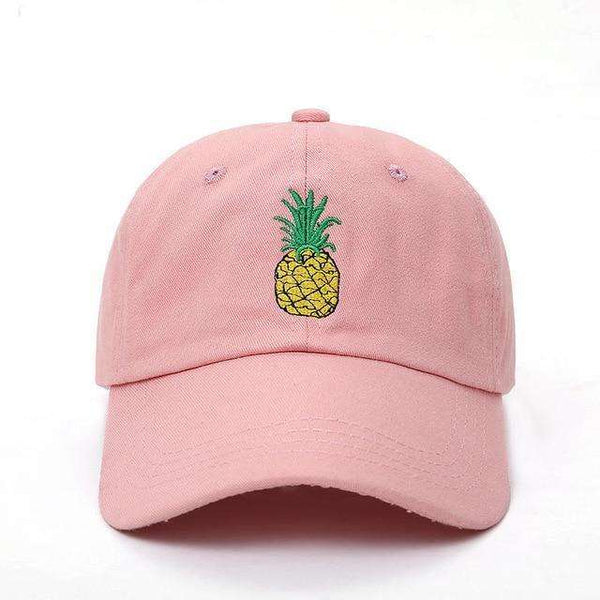 PINEAPPLE EXPRESS DAD HAT - PINK - CLOUT CULTURE