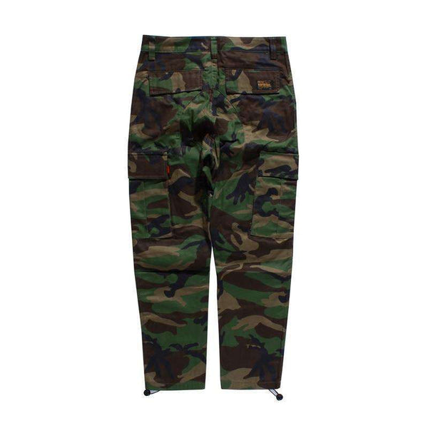 CAMOUFLAGE CARGO PANTS - GREEN - CLOUT CULTURE