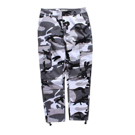 CAMOUFLAGE CARGO PANTS - GREY - CLOUT CULTURE