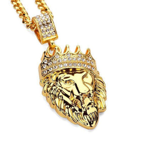 ICED OUT LION KING CHAIN - GOLD - CLOUT CULTURE