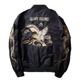 GLORY BOUND BOMBER JACKET - BLACK - CLOUT CULTURE