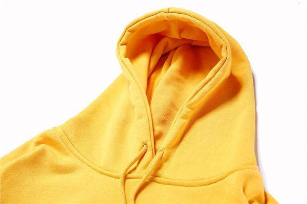 HOLLYWOOD HOODIE - YELLOW/RED - CLOUT CULTURE