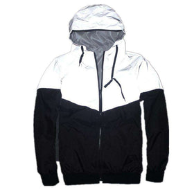 3M REFLECTIVE WINDBREAKER JACKET - BLACK/GREY - CLOUT CULTURE