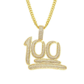 "ICED OUT ""100"" CHAIN - GOLD - CLOUT CULTURE"