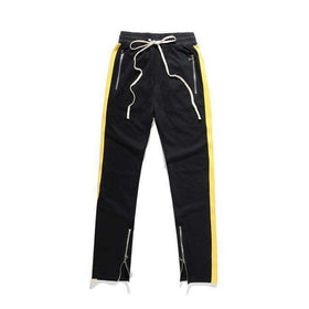 PREMIUM RETRO PANTS - BLACK/YELLOW - CLOUT CULTURE