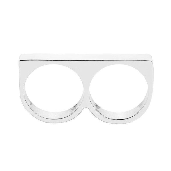 THIN KNUCKLEBAR RING - SILVER - CLOUT CULTURE