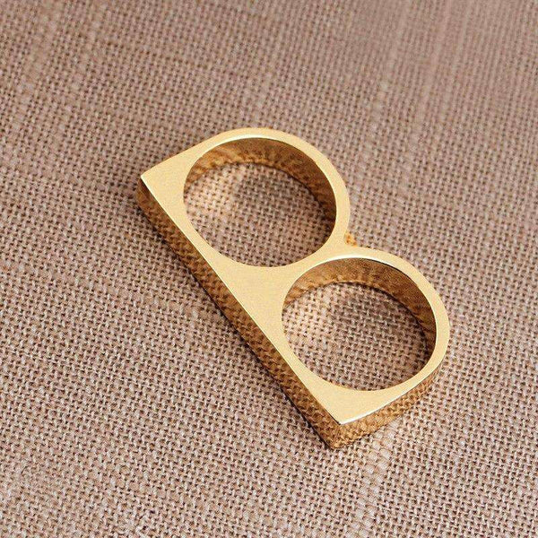 THIN KNUCKLEBAR RING - GOLD - CLOUT CULTURE