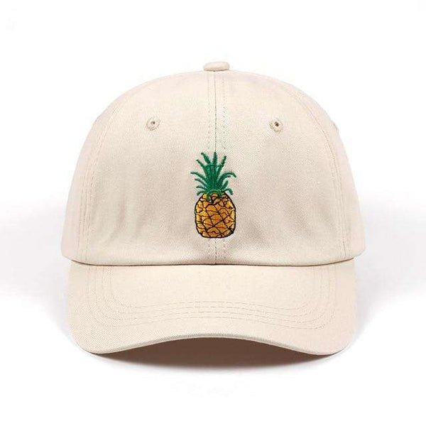 PINEAPPLE EXPRESS DAD HAT - BEIGE - CLOUT CULTURE