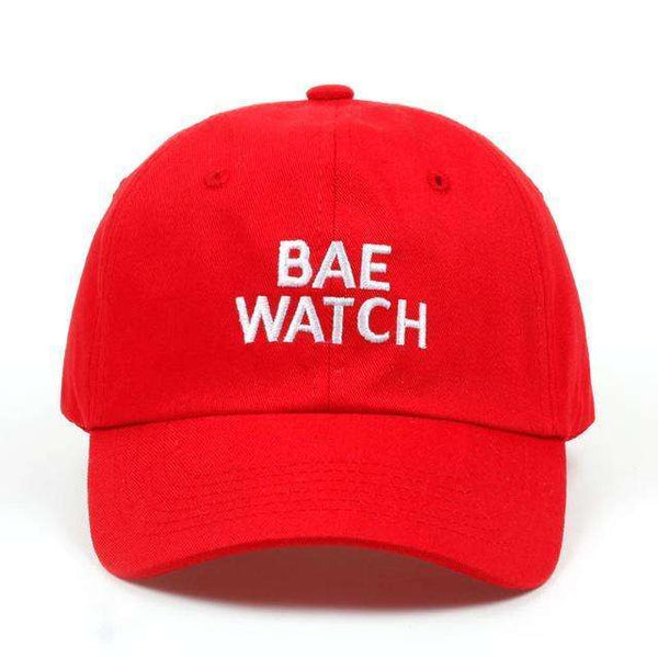 BAE WATCH DAD HAT - RED - CLOUT CULTURE