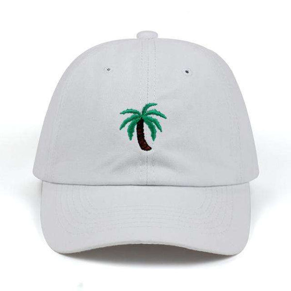 PALM TREES DAD HAT - GREY - CLOUT CULTURE