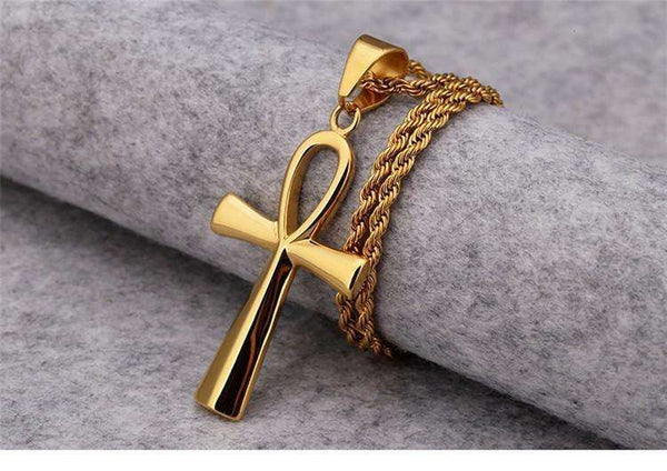 ANKH ROPE CHAIN - GOLD - CLOUT CULTURE