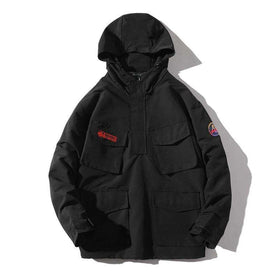 ACERFAPER LAYERED JACKET - BLACK - CLOUT CULTURE