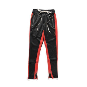 RETRO PANTS  - BLACK/RED - CLOUT CULTURE