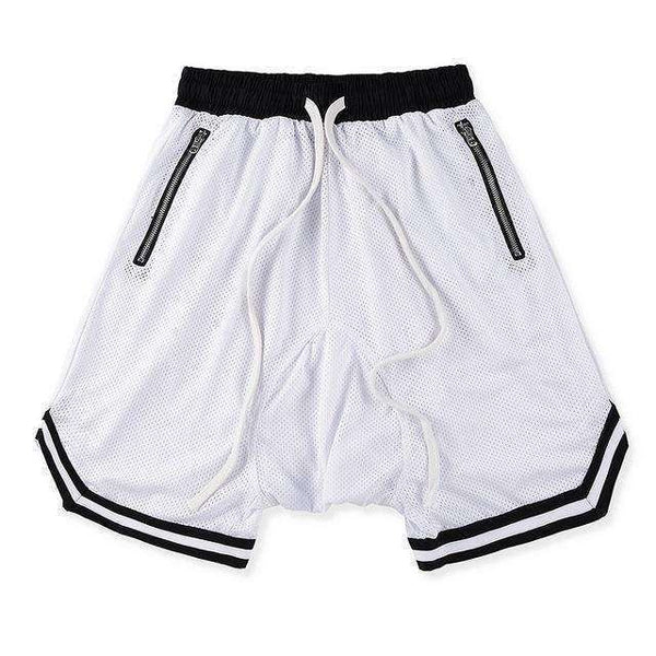 MESH SPORTS SHORTS - WHITE - CLOUT CULTURE