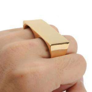 THICK KNUCKLEBAR RING - GOLD - CLOUT CULTURE