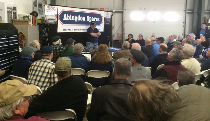 Joe Curto packs the house at Abingdon Spares!