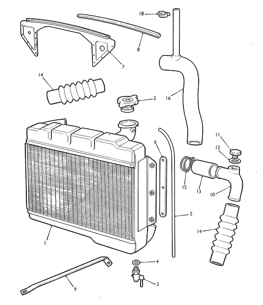 mgb radiator 1962 to 1976