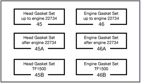 DIAGRAM OF MG T GASKET SETS