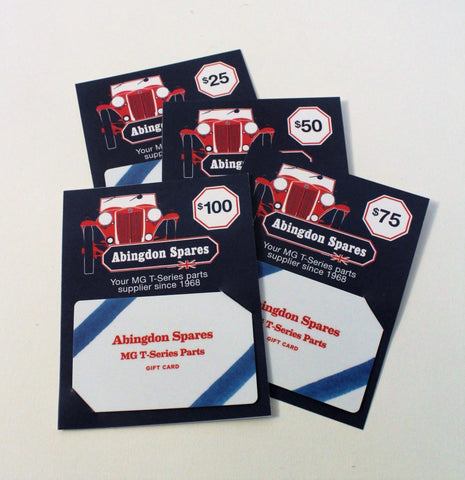 Abingdon Spares Gift Cards Certificates