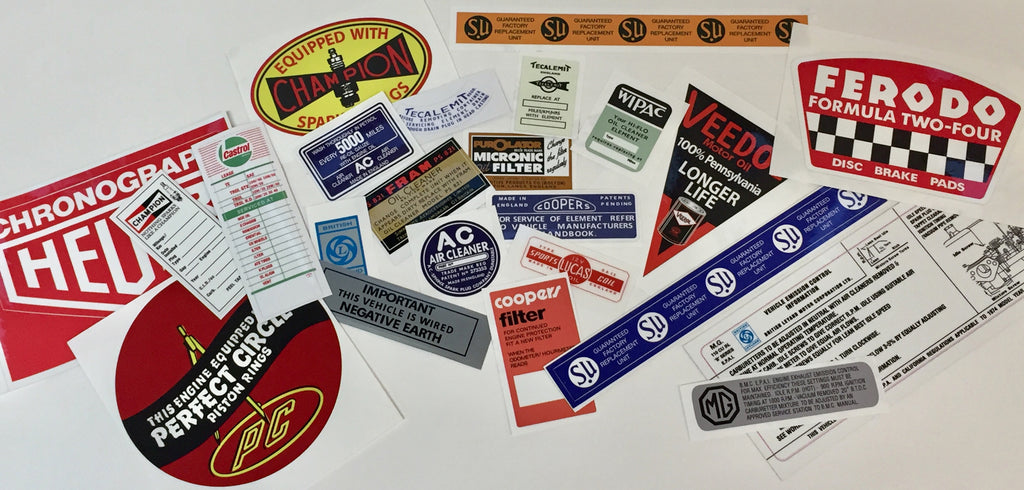 Collection of Automotive Restoration Decals