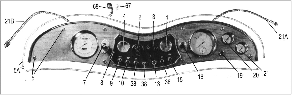 DIAGRAM OF MG TC DASHBOARD