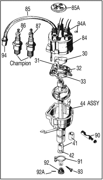 Distributor and Ignition Parts Diagram
